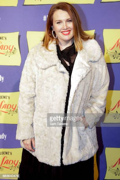 Claire Bowditch arrives ahead of opening night of My Fair Lady at Regent Theatre on May 16 2017 in Melbourne Australia