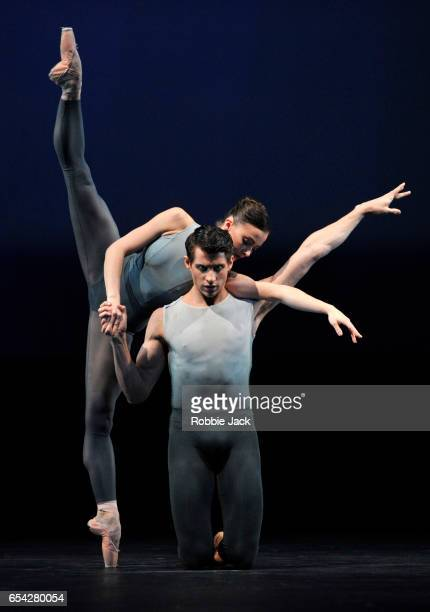 Claire Calvert and Nicol Edmonds in the Royal Ballet's production of Christopher Wheeldon's After The Rain at the Royal Opera House on March 14 2017...