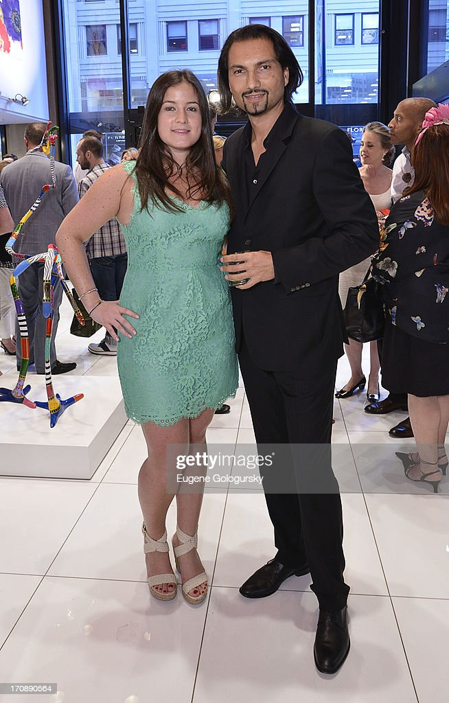 Claire Carlin and Francois Karimi attend the Gotham Magazine Celebration of Its Featured Amazing Faces Of NYC Beauties on June 19, 2013 in New York City.