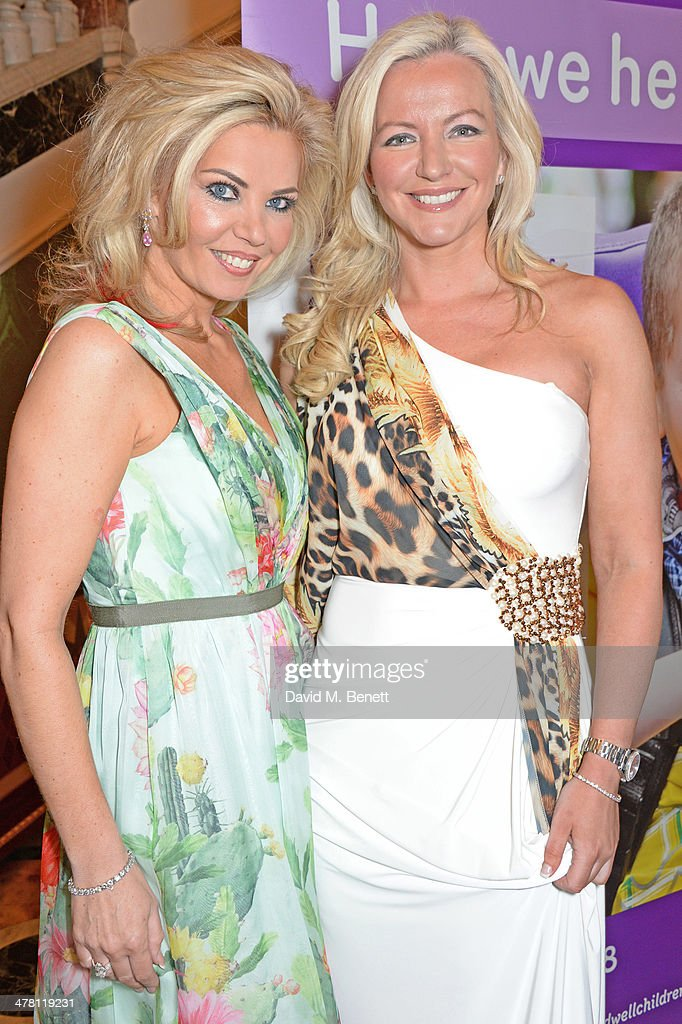 Claire Caudwell (L) and <a gi-track='captionPersonalityLinkClicked' href=/galleries/search?phrase=Michelle+Mone&family=editorial&specificpeople=599142 ng-click='$event.stopPropagation()'>Michelle Mone</a> attend the Caudwell Children Butterfly Ball launch breakfast 2014 at Ancaster House on March 12, 2014 in London, England.