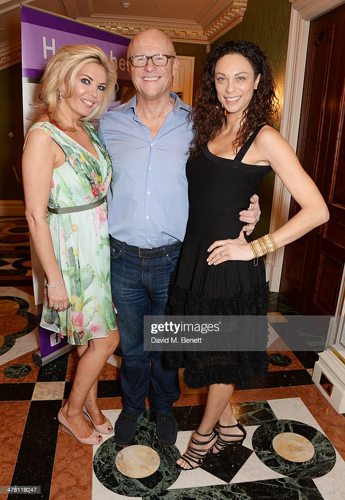 Claire Caudwell, John Caudwell and Lilly Becker attend the Caudwell Children Butterfly Ball launch breakfast 2014 at Ancaster House on March 12, 2014 in London, England.
