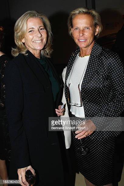 Claire Chazal and Christine Ockrent attend the Foundation Martine Aublet Gala Dinner at Musee du Quai Branly on October 1 2012 in Paris France