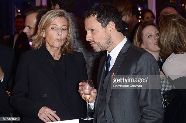 Claire Chazal and MarcOlivier Fogiel attends the Sidaction Gala Dinner 2016 as part of Paris Fashion Week on January 28 2016 in Paris France