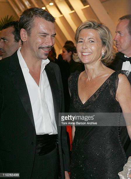 Claire Chazal and Philippe Torreton during 2006 Cannes Film Festival Gala Dinner Arrivals at Palais Du Festival in Cannes France
