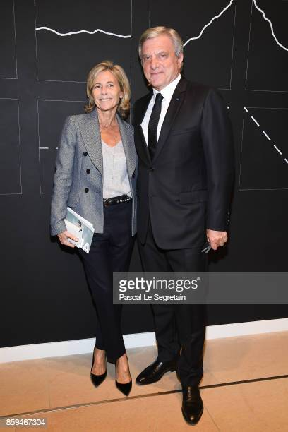 Claire Chazal and Sidney Toledano attend 'Etre Moderne Le MoMA A Paris' Exhibition at Fondation Louis Vuitton on October 9 2017 in Paris France