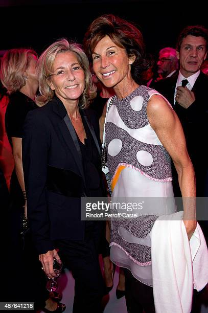 Claire Chazal and Sylvie Rousseau attend the Auction Dinner to Benefit 'Institiut Imagine' on September 10 2015 in Paris France
