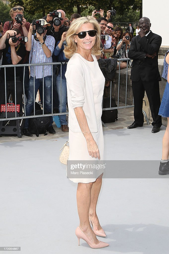 Claire Chazal arrives to attend the Christian Dior show as part of Paris Fashion Week Haute Couture Fall/Winter 2013-2014 at on July 1, 2013 in Paris, France.