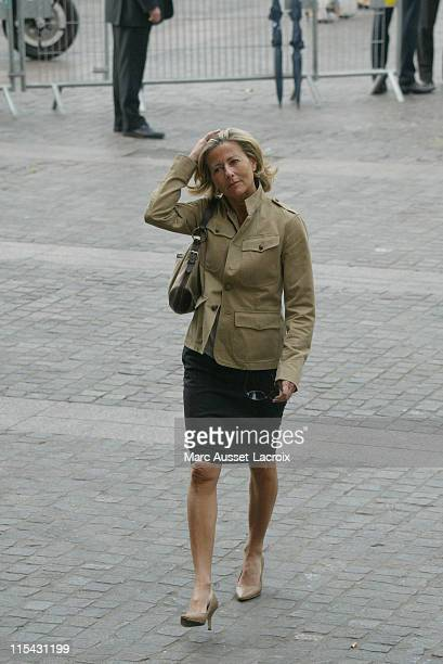 Claire Chazal arrives to the funeral service of French actor JeanPierre Cassel at SaintEustache church in Paris France