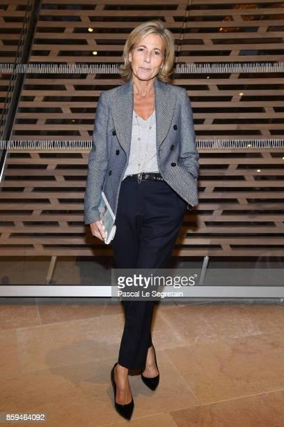 Claire Chazal attends 'Etre Moderne Le MoMA A Paris' Exhibition at Fondation Louis Vuitton on October 9 2017 in Paris France