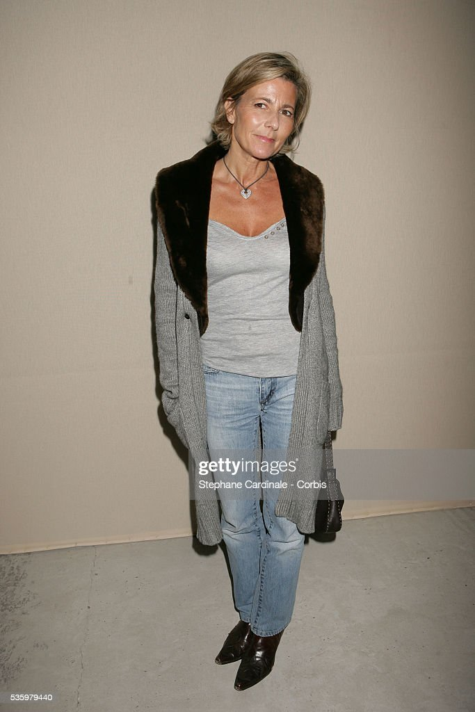 Claire Chazal attends the Christian Dior ready-to-wear Spring-Summer 2006 fashion show.