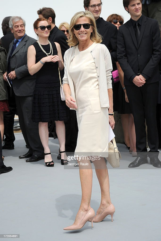 Claire Chazal attends the Christian Dior show as part of Paris Fashion Week Haute Couture Fall/Winter 2013-2014 at on July 1, 2013 in Paris, France.