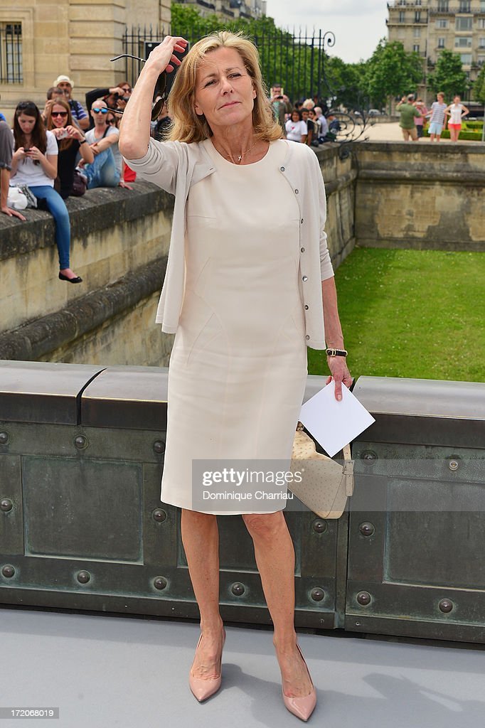 Claire Chazal attends the Christian Dior show as part of Paris Fashion Week Haute-Couture Fall/Winter 2013-2014 at on July 1, 2013 in Paris, France.