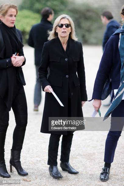 Claire Chazal attends the Christian Dior show as part of the Paris Fashion Week Womenswear Fall/Winter 2017/2018 on March 3 2017 in Paris France