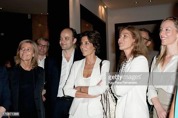 Claire Chazal Christine Orban and Adlade de Clermont Tonnerre attends the 'Prix du Premier Roman de Femme 8eme Edition' during the 'Montalembert...