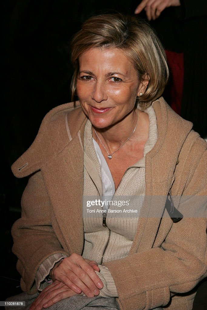 <a gi-track='captionPersonalityLinkClicked' href=/galleries/search?phrase=Claire+Chazal&family=editorial&specificpeople=240566 ng-click='$event.stopPropagation()'>Claire Chazal</a> during Paris Fashion Week - Autumn/Winter 2006 - Ready to Wear - Christian Dior - Front Row at Grand Palais in Paris, France.