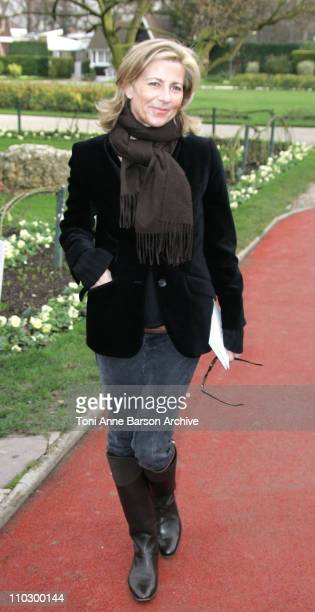 Claire Chazal during Paris Fashion Week Haute Couture Spring/Summer 2007 Christian Dior Arrivals at Paris in Paris France