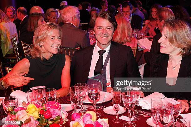 Claire Chazal Francois Baroin and Catherine Pegard Chateau de Versailles President attend the Foundation Martine Aublet Gala Dinner at Musee du Quai...