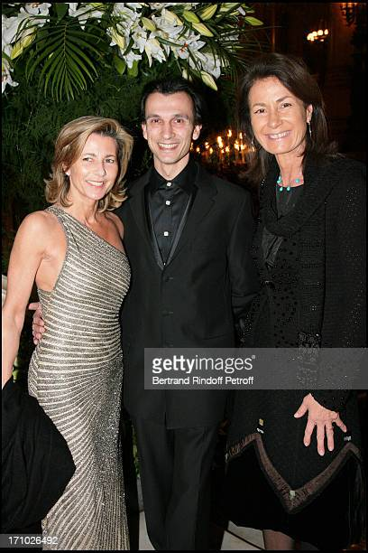 Claire Chazal Laurent Hilaire and Mrs Thierry Breton Gala for the 'Dan David' awards ceremony at the Garnier opera with the ballet by Roland Petit...