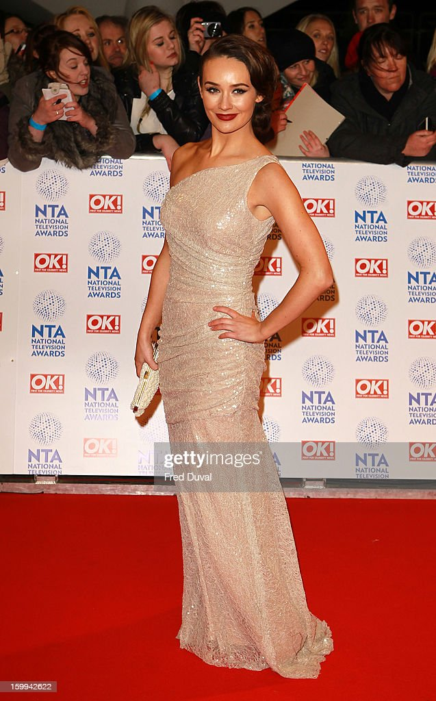 Claire Cooper attends the National Television Awards at 02 Arena on January 23, 2013 in London, England.