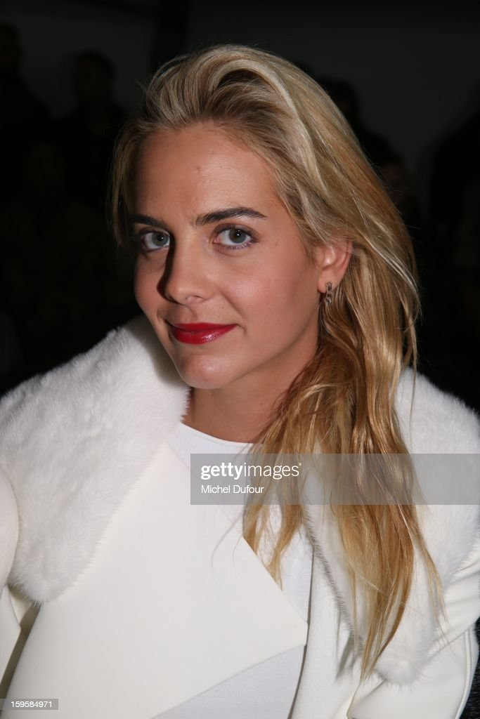 Claire Courtin attends the Mugler Men Autumn / Winter 2013 show as part of Paris Fashion Week on January 16, 2013 in Paris, France.