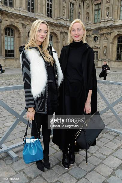 Claire CourtinClarins and Virginie CourtinClarins attend the Louis Vuitton Fall/Winter 2013 ReadytoWear show as part of Paris Fashion Week on March 6...