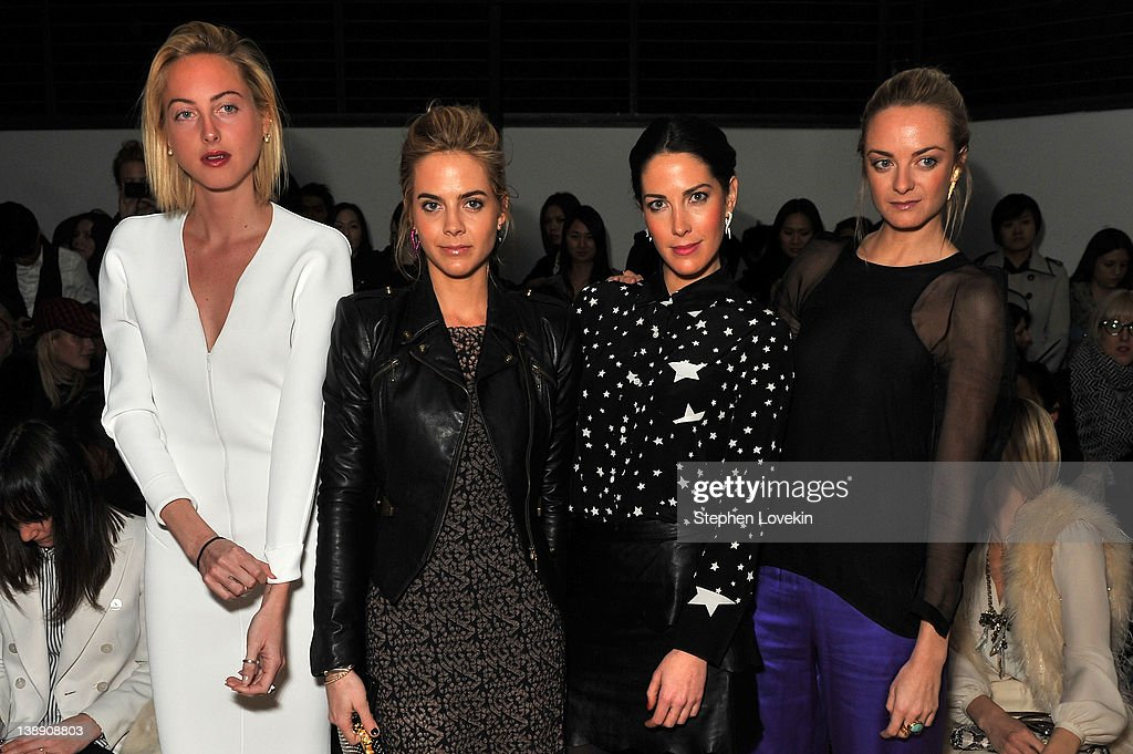 Claire CourtinClarins Jenna CourtinClarins Prisca CourtinClarins and Virginie CourtinClarins attend the 31 Phillip Lim Fall 2012 fashion show during...
