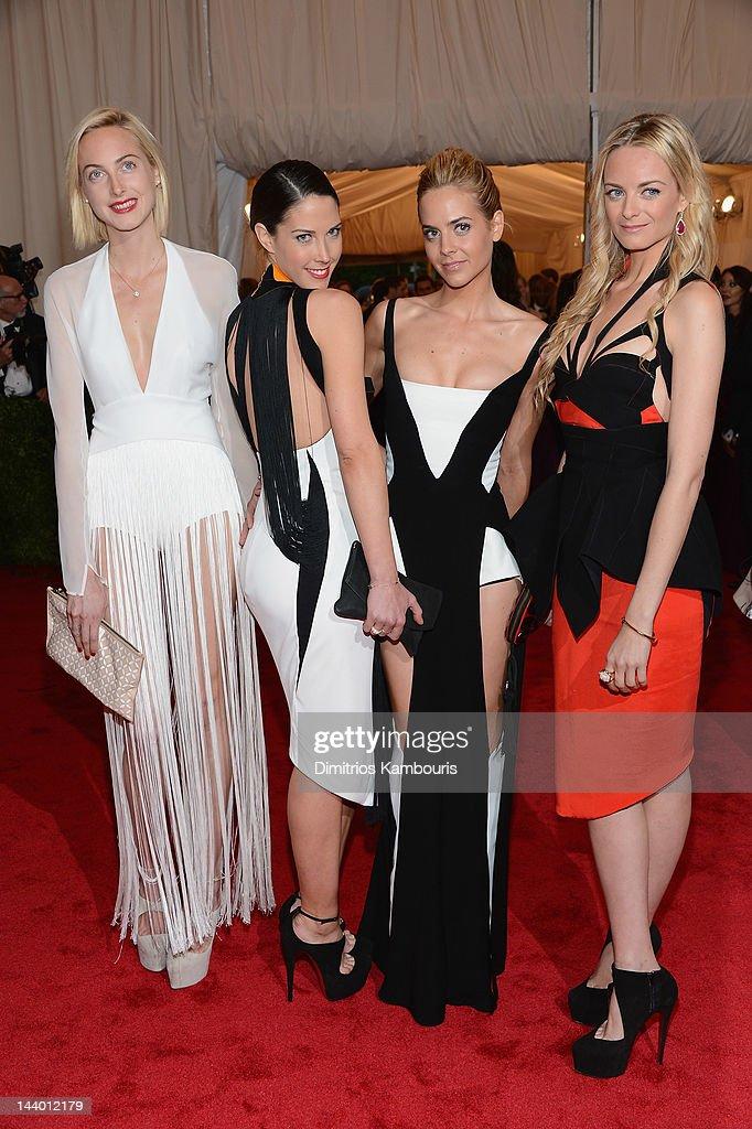 Claire CourtinClarins Prisca CourtinClarins Jenna CourtinClarins and Virginie CourtinClarins attend the 'Schiaparelli And Prada Impossible...