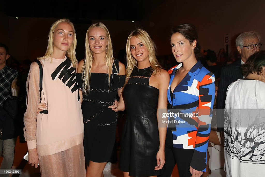 Claire CourtinsClarins Virginie CourtinsClarins Jenna CourtinsClarins and Prisca CourtinsClarins attend the Mugler show as part of the Paris Fashion...