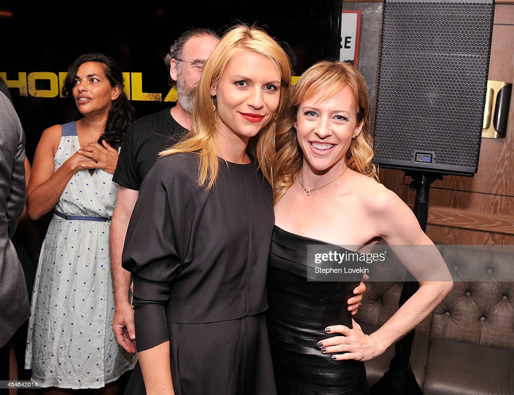 Claire Danes and Amy Hargreaves attend a Private Reception And Screening Of Homeland Season 4 on September 4 2014 in New York City