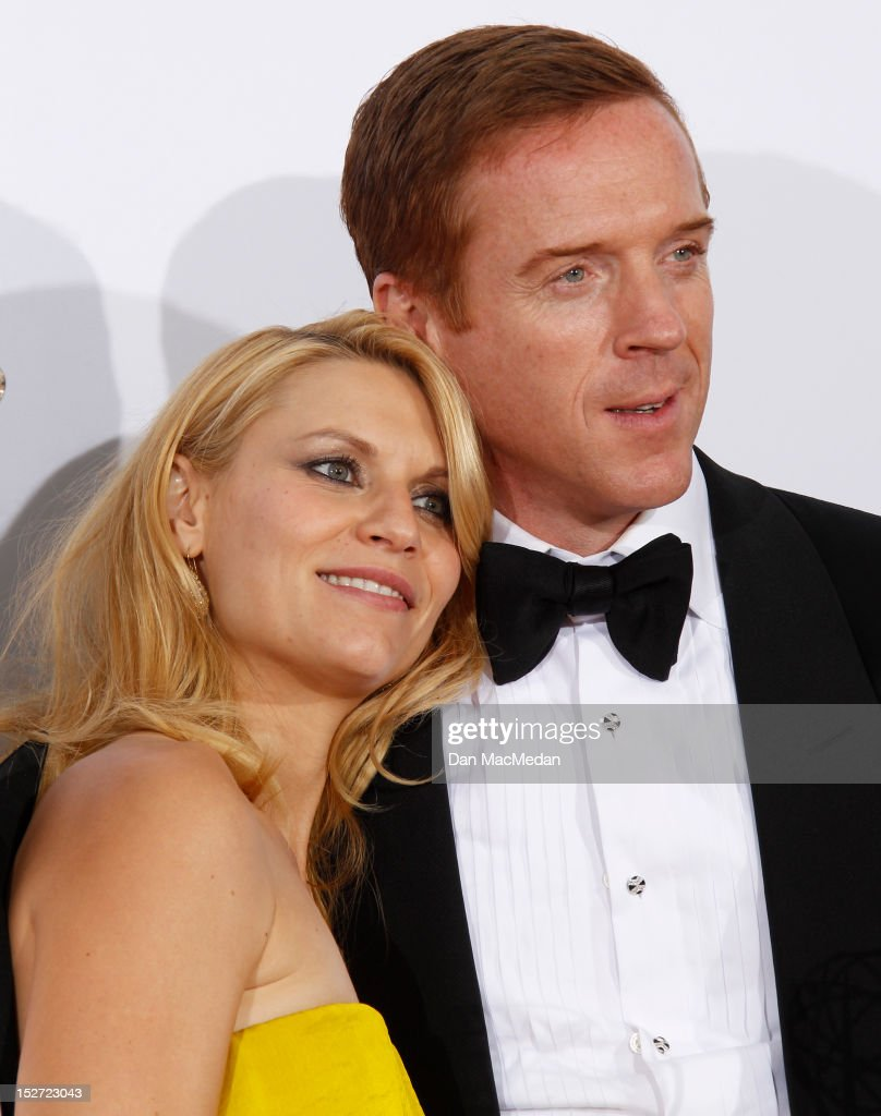 Claire Danes and Damian Lewis poses in the press room at the 64th Primetime Emmy Awards held at Nokia Theatre L.A. Live on September 23, 2012 in Los Angeles, California.