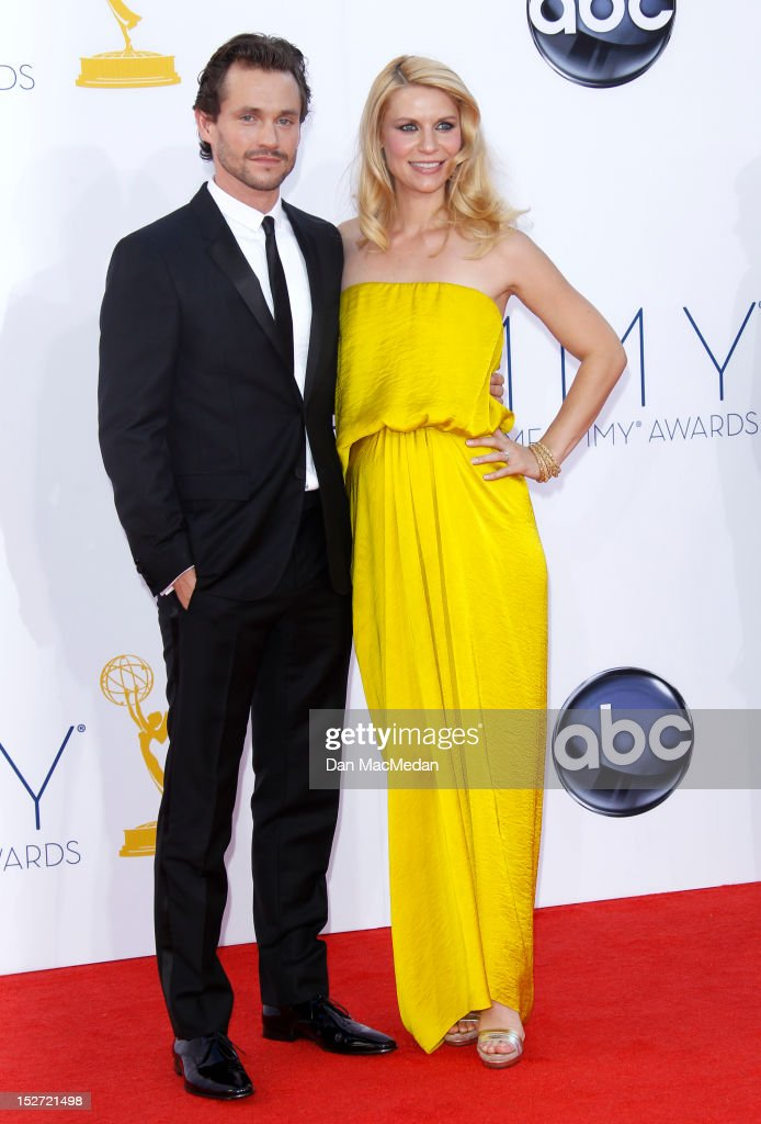 Claire Danes and Hugh Dancy arrives at the 64th Primetime Emmy Awards held at Nokia Theatre L.A. Live on September 23, 2012 in Los Angeles, California.