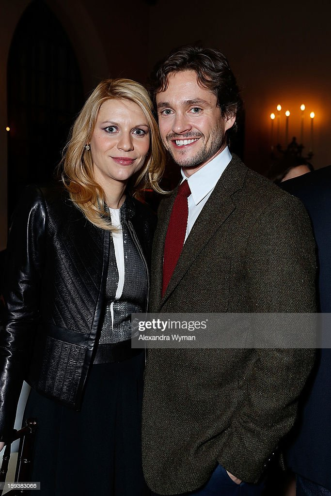 <a gi-track='captionPersonalityLinkClicked' href=/galleries/search?phrase=Claire+Danes&family=editorial&specificpeople=202666 ng-click='$event.stopPropagation()'>Claire Danes</a> and <a gi-track='captionPersonalityLinkClicked' href=/galleries/search?phrase=Hugh+Dancy&family=editorial&specificpeople=214056 ng-click='$event.stopPropagation()'>Hugh Dancy</a> at Showtime's dinner celebration of The 2013 Golden Globe Nominees held at The Chateau Marmont on January 12, 2013 in Los Angeles, California.