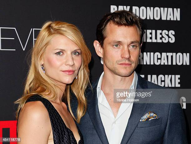 Claire Danes and Hugh Dancy attend Showtime's 2014 'EmmyEve Soiree' at Sunset Tower on August 24 2014 in West Hollywood California