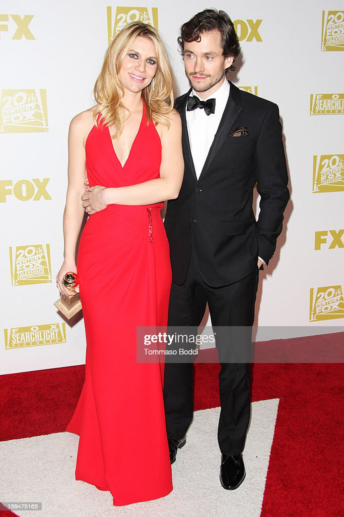 Claire Danes (L) and Hugh Dancy attend the FOX Golden Globe after party held at the FOX Pavilion at the Golden Globes on January 13, 2013 in Beverly Hills, California.