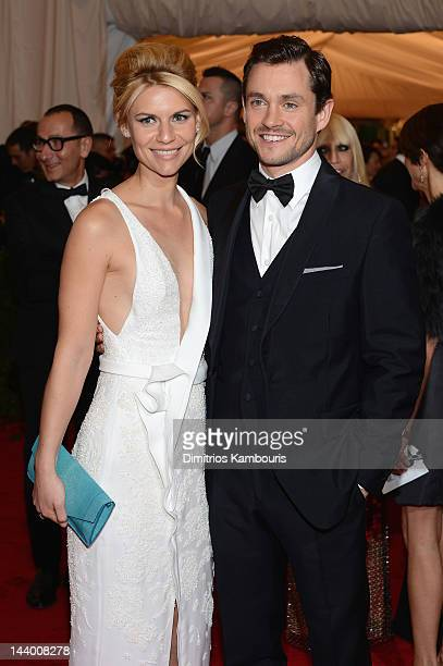 Claire Danes and Hugh Dancy attend the 'Schiaparelli And Prada Impossible Conversations' Costume Institute Gala at the Metropolitan Museum of Art on...
