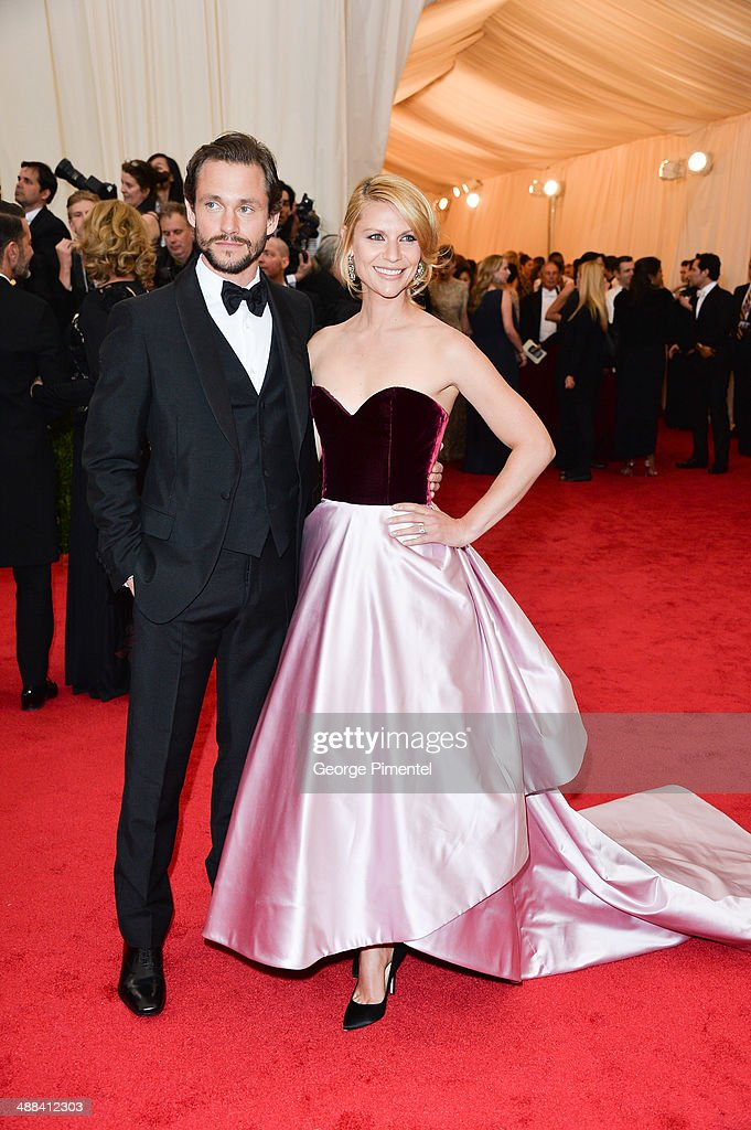 Claire Danes and Hugh Dancy attends the 'Charles James: Beyond Fashion' Costume Institute Gala at the Metropolitan Museum of Art on May 5, 2014 in New York City.