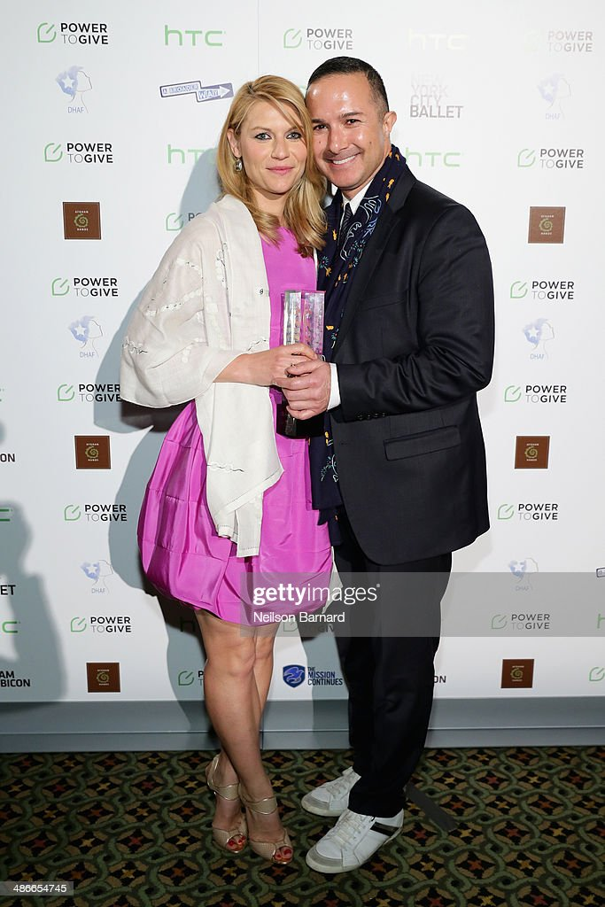 Claire Danes and Matin Maulawizada attend Variety Power Of Women New York presented by FYI at Cipriani 42nd Street on April 25 2014 in New York City