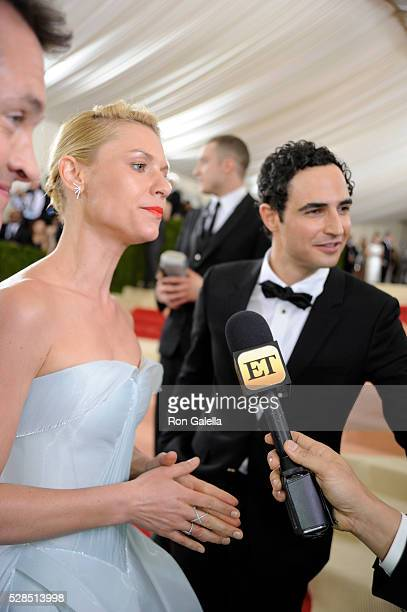 Claire Danes and Zac Posen at Metropolitan Museum of Art on May 2 2016 in New York City