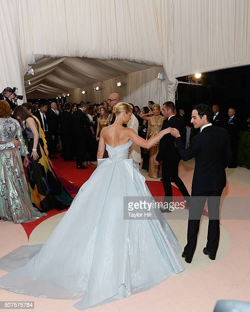 Claire Danes and Zac Posen attend 'Manus x Machina Fashion in an Age of Technology' the 2016 Costume Institute Gala at the Metropolitan Museum of Art...
