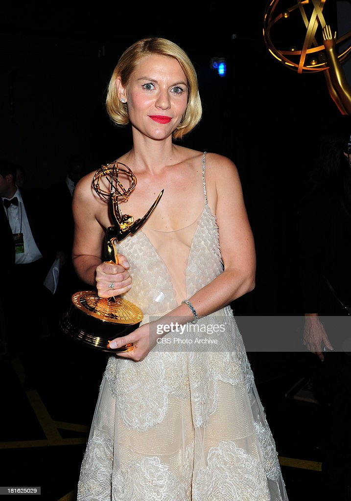 <a gi-track='captionPersonalityLinkClicked' href=/galleries/search?phrase=Claire+Danes&family=editorial&specificpeople=202666 ng-click='$event.stopPropagation()'>Claire Danes</a> at the 65th Primetime Emmy Awards which will be broadcast live across the country 8:00-11:00 PM ET/ 5:00-8:00 PM PT from NOKIA Theater L.A. LIVE in Los Angeles, Calif., on Sunday, Sept. 22 on the CBS Television Network.