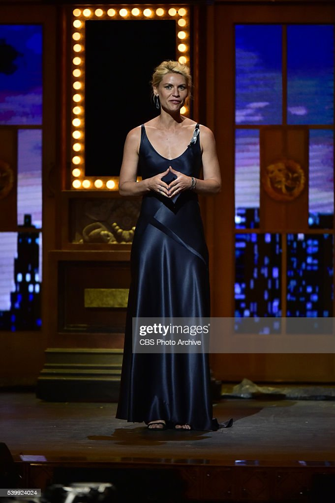 Claire Danes at THE 70TH ANNUAL TONY AWARDS live from the Beacon Theatre in New York City Sunday June 12 on the CBS Television Network