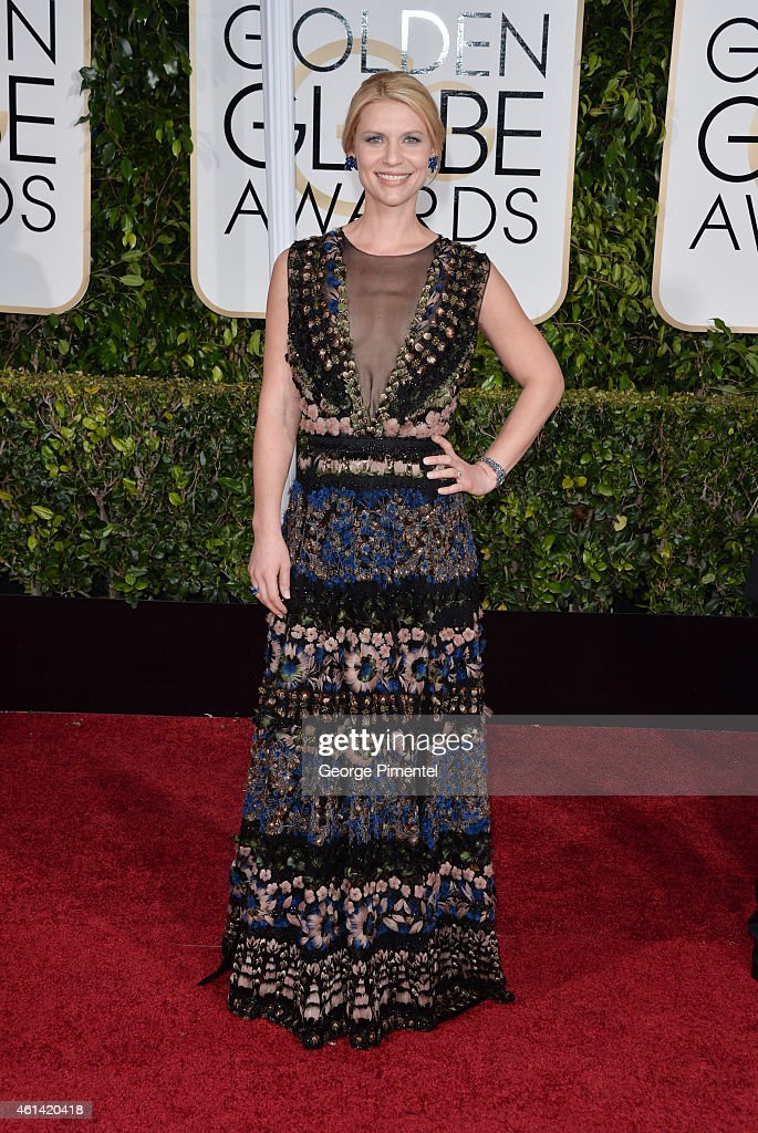 Claire Danes attend the 72nd Annual Golden Globe Awards at The Beverly Hilton Hotel on January 11 2015 in Beverly Hills California