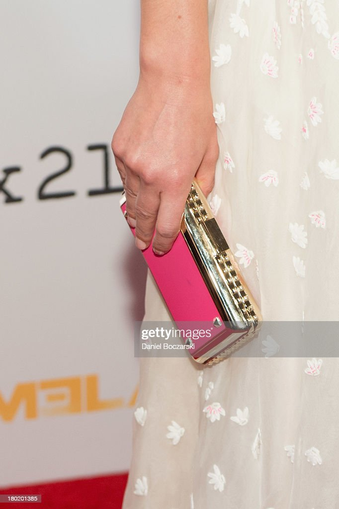Claire Danes (clutch bag detail) attends a premiere screening hosted by SHOWTIME and Fox 21 for Season 3 of the hit series 'Homeland' at Corcoran Gallery of Art on September 9, 2013 in Washington City.