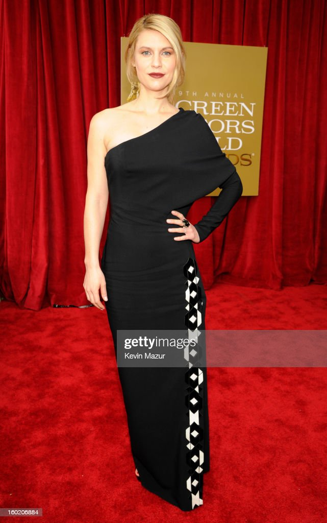 Claire Danes attends the 19th Annual Screen Actors Guild Awards at The Shrine Auditorium on January 27, 2013 in Los Angeles, California. (Photo by Kevin Mazur/WireImage) 23116_016_0796.jpg
