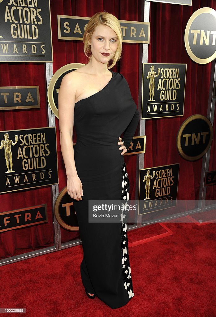 Claire Danes attends the 19th Annual Screen Actors Guild Awards at The Shrine Auditorium on January 27, 2013 in Los Angeles, California. (Photo by Kevin Mazur/WireImage) 23116_016_0808.jpg