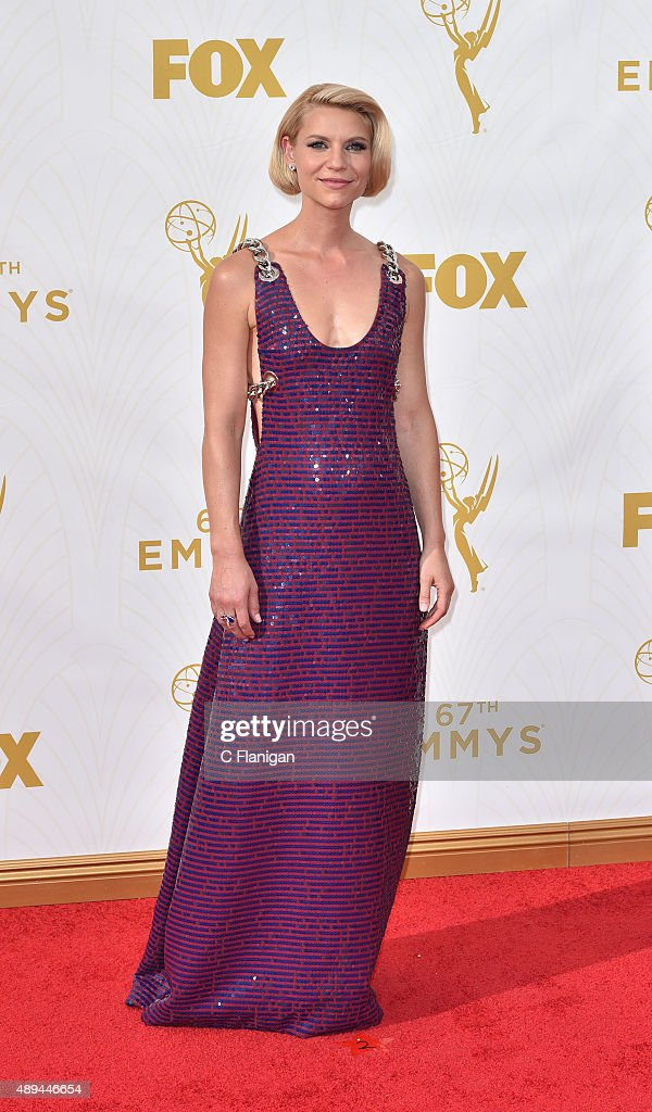 Claire Danes attends the 67th Annual Primetime Emmy Awards at Microsoft Theater on September 20 2015 in Los Angeles California