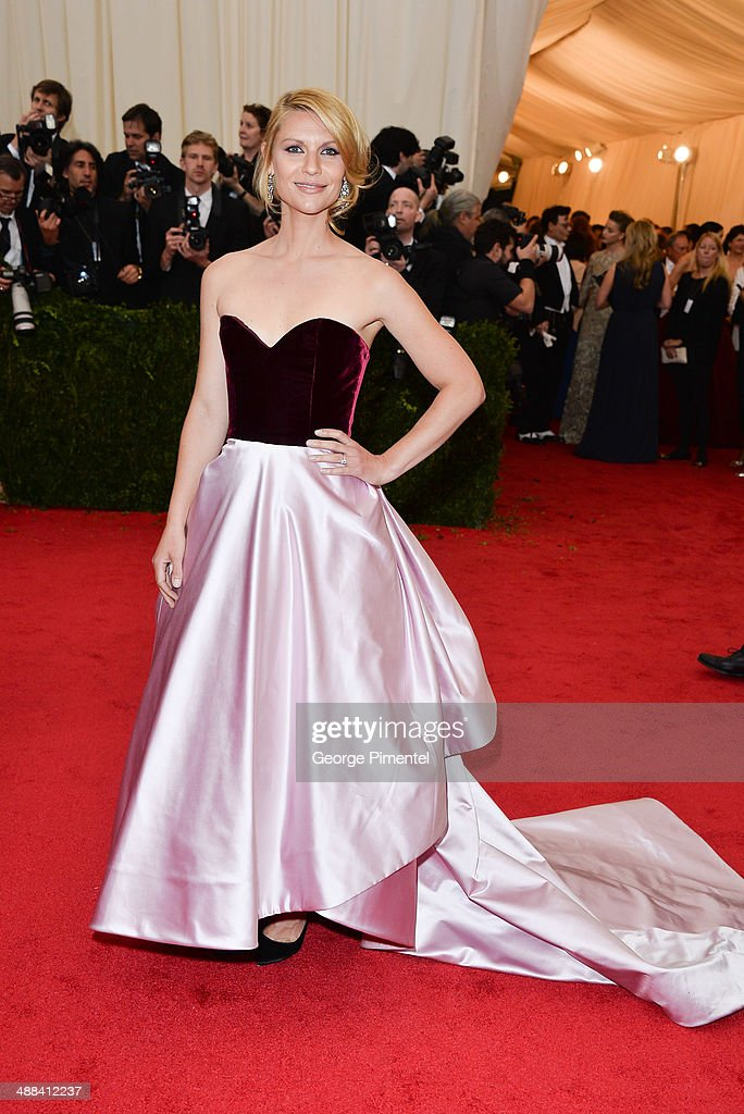 Claire Danes attends the 'Charles James: Beyond Fashion' Costume Institute Gala at the Metropolitan Museum of Art on May 5, 2014 in New York City.