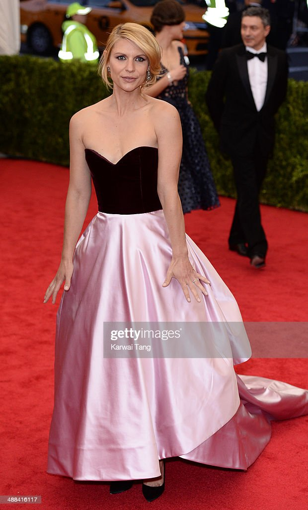 Claire Danes attends the 'Charles James: Beyond Fashion' Costume Institute Gala held at the Metropolitan Museum of Art on May 5, 2014 in New York City.