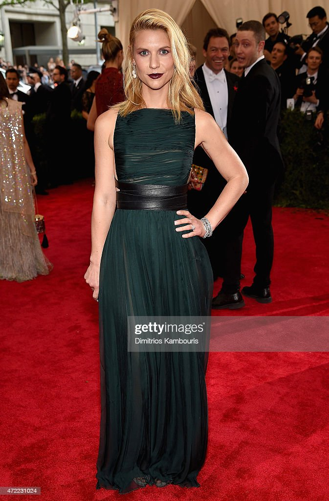 Claire Danes attends the 'China Through The Looking Glass' Costume Institute Benefit Gala at the Metropolitan Museum of Art on May 4 2015 in New York...