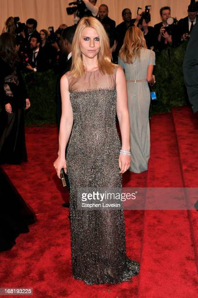 Claire Danes attends the Costume Institute Gala for the 'PUNK Chaos to Couture' exhibition at the Metropolitan Museum of Art on May 6 2013 in New...